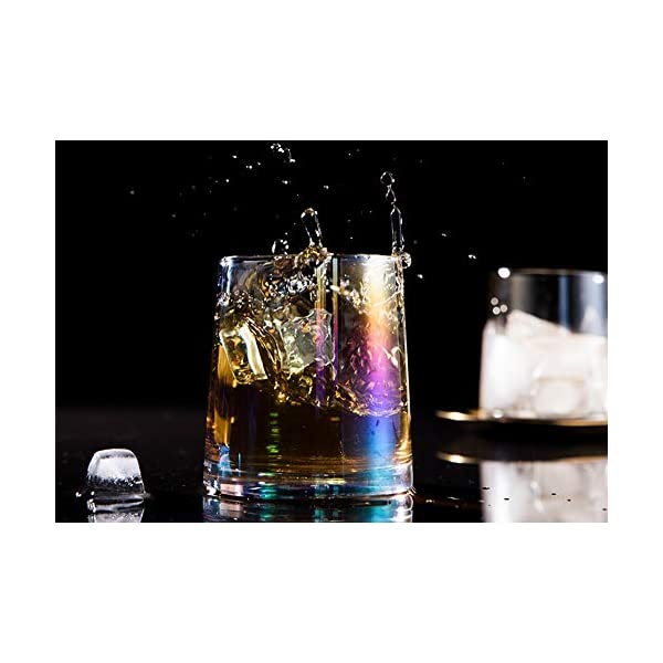 AIKASA - Set di 2 bicchieri da whisky, colorati, soffiati a mano, senza piombo, lavabili in lavastoviglie, regalo… 5 spesavip