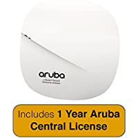 Aruba Networks Instant AP-207 Wireless Access Point, 802.11n/ac, 2x2:2, Dual Radio, Integrated Antenna with 1 Year Aruba Central