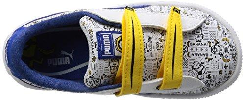 Sneakers Basses lapis Puma Enfant V white Blue Inf Mixte Basket Minions Blanc qXxw7wRIF