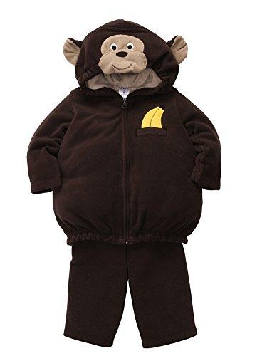 Carters Infant Monkey Costume Baby Boys Girls Hoody Jacket Sweat Pants 3-6m]()