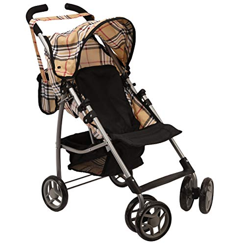 Mommy & Me Doll Stroller Swiveling Wheels with Free Carriage