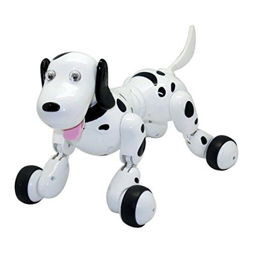 Huge Sale Wenjuan 777-338 RC strolling 2.4G Distant Management Digital Pets Multipurpose Real looking Sensible Canine Interactive Robotic Canine (Black)  Critiques