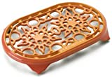 Le Creuset 10-1/2-Inch Deluxe Oval Trivet, Flame