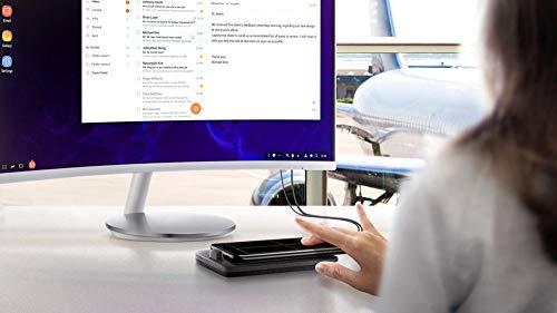 TharvDEX Pad EE-M5100 Desktop Charging Dock for Galaxy Note 8 Note 9 S9+ S8+ Black