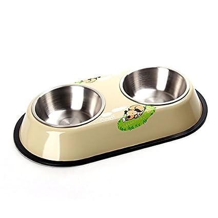 PETCUTE Comedero de Perro Cuenco de Gato Acero Inoxidable Cuenco Antideslizante Bebedero para Gatos