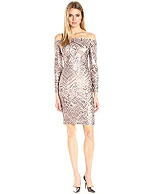 BCBGMax Azria Women's Eunice Knit Evening Dress