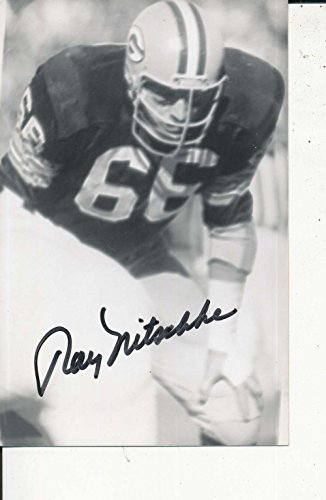Ray Nitchke Green Bay Packers Signed Post Card uniform -