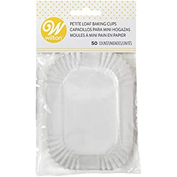 Wilton Petite Loaf Baking Cups, White (415-450)