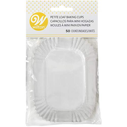 Wilton Petite Loaf Baking Cups, White