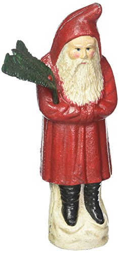 Kris Kringle Christmas - Christmas Decorations - German Kris Kringle Santa Claus Collector Die Cast Iron Still Action Coin Bank - Savings Bank - Piggy Bank