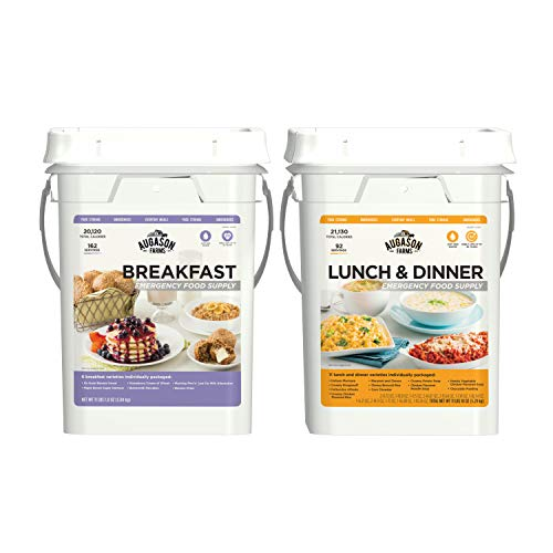 Augason Farms 5-20360 Breakfast, Lunch & Dinner Pail Combo Survival Emergency Food, 4 gal