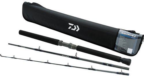 Daiwa SAG703MR-TR Saltiga G Boat Rod Conventional Travel Rod (3 Piece), 7'0