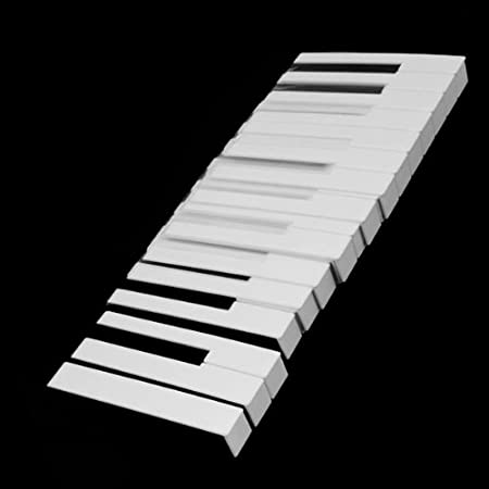 Keytops Reemplazo blanco brillante de teclas de piano de plástico ABS