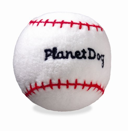 Planet Dog Squeaky Plush, Baseball, My Pet Supplies