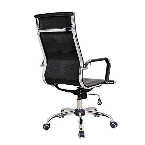 NXKang Computer Chair, Nordic Wind Home Office Chair Leather Desk Gaming Chair with Massage Function Adjust Seat Height (Black)