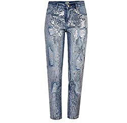 Jeans Mid-Waist With Metallic Sequins