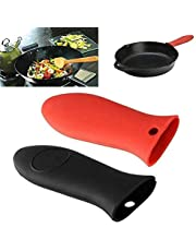 CHOUREN Anti-slip Silicone Handle Holder Potholder Cast Iron Skillets Sleeve Grip Cover Protecting Heat Resistant Pan Handle Cover (Color : Red)