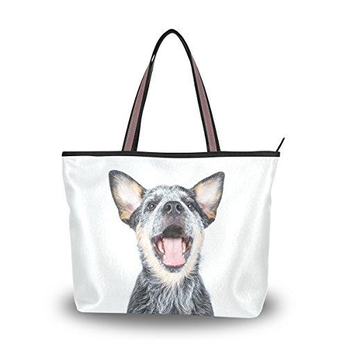 ALAZA Australian Cattle Puppy Dog Tote Top Handle Shoulder Bags Large Handbags for Women Ladies - Designer Australian Sunglasses