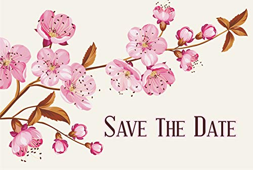 Cherry Blossoms Wedding Save The Date Postcards - 6in. X 4in. (100) ()