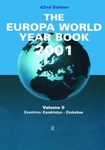The Europa World Year Book 2001: Vol 2 PDF