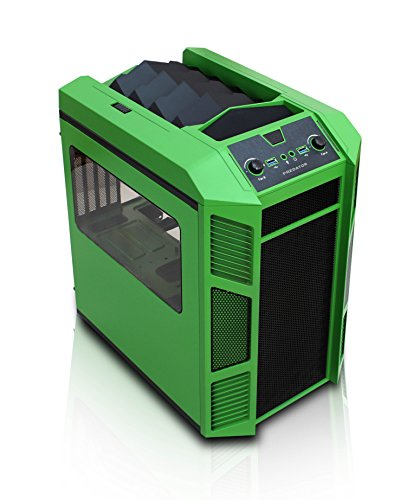 Rexgear 1 Micro ATX Cube PC Case with Removable Trays for Easy Installation, Green