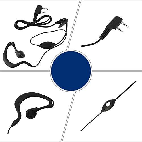 Radio Gancho para la Oreja walkie Talkie Auricular Radio 5R aud/ífono Ultravioleta Baofeng 888s micr/ófono Auricular Auricular Auricular 2 Pines para