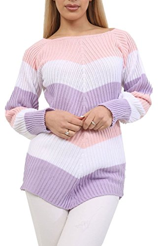 Plus 44 Rose Fashion Taille Rose Uni Pulls Unique Pull Femme AxzrdqzX