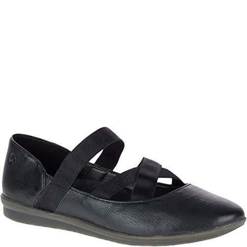 Hush Puppies Women's Meree Madrine Mary Jane Flat, Black, 8.5 W US
