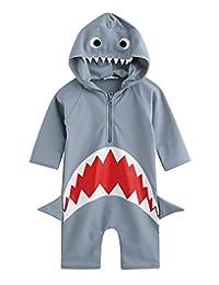 Vaenait Baby 0-24M Baby Boys Swimsuit Rashguard Swimwear Real Jaws
