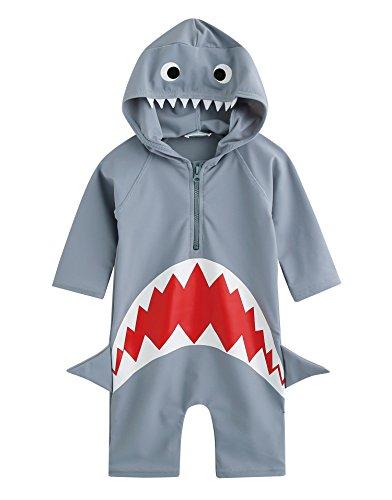 Vaenait baby 0-24M Baby Swimsuit Infant Boys Rashguard Swimwear Real Jaws Baby S