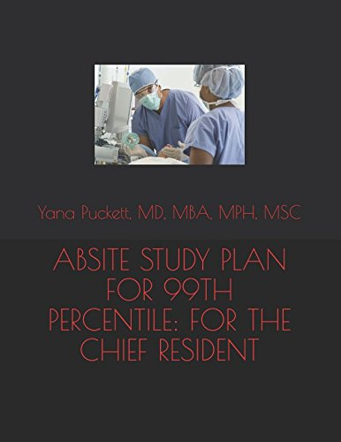 ABSITE STUDY PLAN FOR THE 99TH PERCENTILE: FOR THE CHIEF RESIDENT