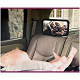 [K2092]Tirol New Car Adjustable Back Seat Mirror Rear View Headrest Mount Baby Safety Mirror