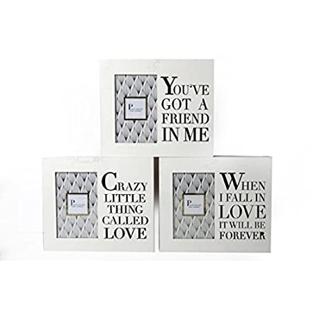 The Home Fusion Company White & Gold Wooden Box Picture Photo Frame ...