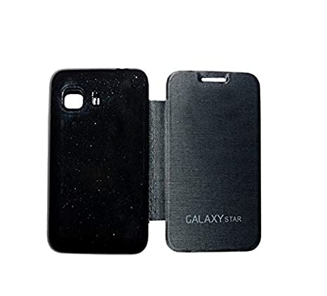 buy online 7ed5e 3b824 COVERNEW Samsung Galaxy Star Flip Cover (Black)