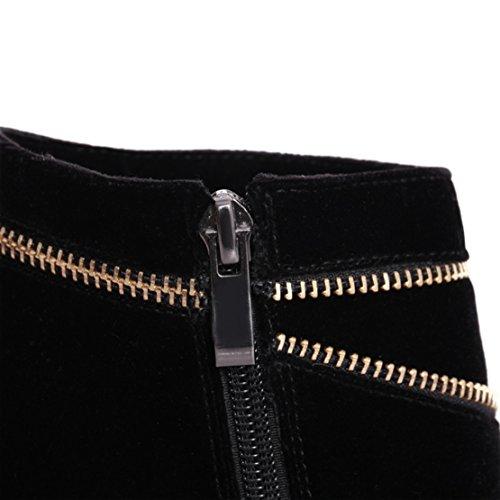 ShangYi Women's Shoes Heel Peep Toe Sandals Outdoor / Dress / Casual Black / Almond/148-a8 , black-us6 / eu36 / uk4 / cn36 , black-us6 / eu36 / uk4 / cn36