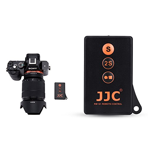 JJC RMT-DSLR1 IR Wireless Remote Control for Sony A6000 A6300 A6400 A6500 A7R III A7R II A7R A7 III A7 II A7 A7S II A7S A9 NEX-6 NEX-7 A99 II A99 A77 A65 A57 A55 and More Sony Camera