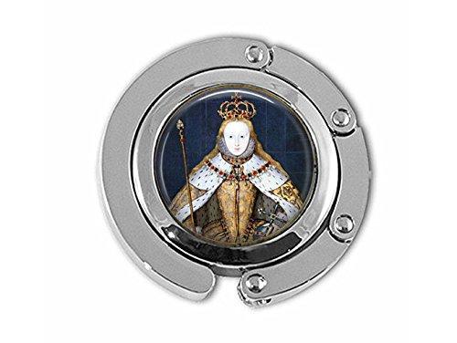 yijun Queen Elizabeth I in her Coronation Robes - British Monarch - Queen Elizabeth Pendant - Big Ben - Great Britain Memento - UK Jewellery Hanger