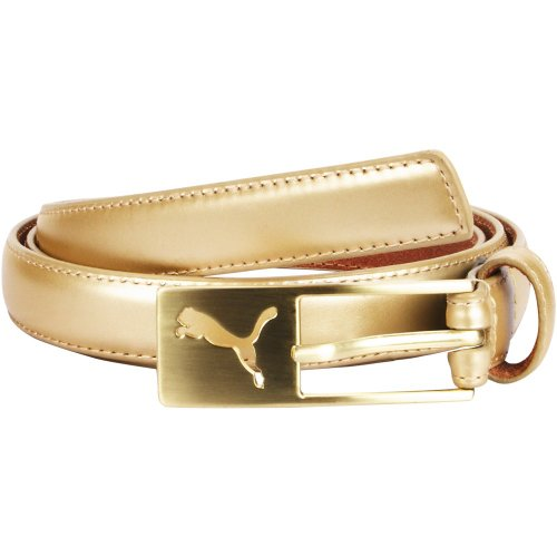e34ad45f23f0b2 Puma Heritage Female Belt Damen Gürtel Gr S (75cm) Gold Leder 052341 02:  Amazon.de: Koffer, Rucksäcke & Taschen