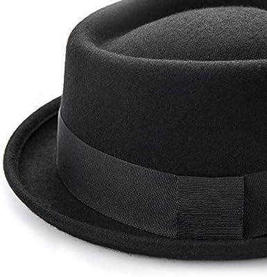Cappello da Uomo in Lana FADVES con Fascia in Tinta Unita 57//59 cm, Nero