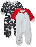 Gerber Baby Boys 2-Pack Blanket Sleeper, Orange/Grey Fox, 3-6 Months