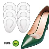 Metatarsal Pads for Women, Ball of Foot Cushions for High Heels All Day Pain Relief Forefoot Pads Heel Snugs Shoe Inserts, 3 Pairs