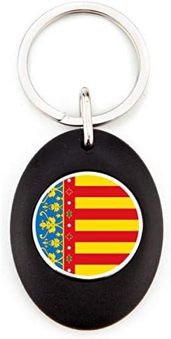 Dise/ño Elegante 1 Unidad Llavero Acr/ílico Redondo con Moneda para Carro G Llavero Bandera Euskadi Color Negro Llavero Resistente