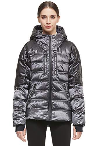 Orolay Women Warm Down Jacket with Hood Unique Quilting Coat