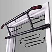 ENAVANT Fold-able Metal Doorway Pull Up Bar, with Suspension Trainers Included, Compatible with Doorways and D