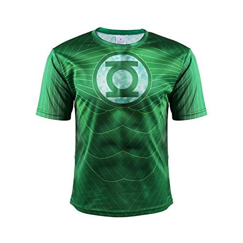 Men's Green Lantern Athletic T Shirt,Cool Workout Shirt Costume XL