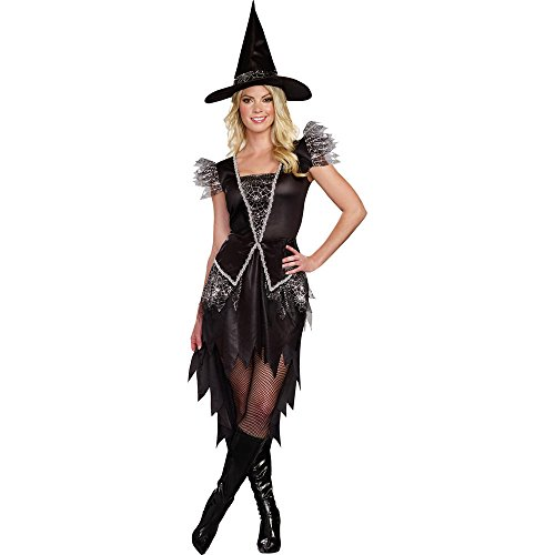 Totally Ghoul Wicked Witch Costume, Women's Size Large