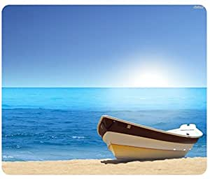 Beaches Sky Sand Sea Boat Mousepad,Custom Rectangular Mouse Pad by ruishername