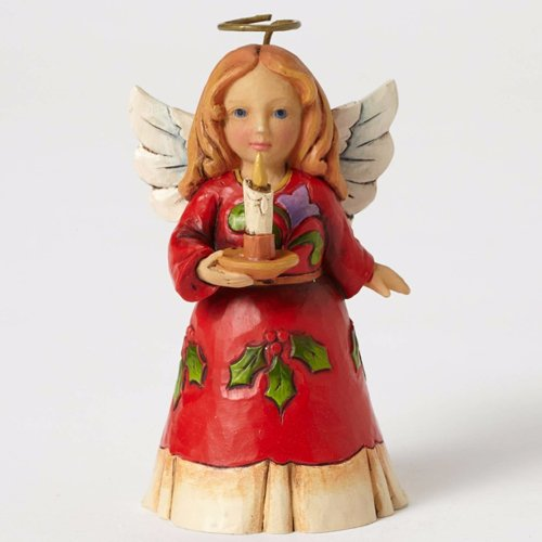 - Jim Shore Heartwood Creek Mini Angel with Candle Stone Resin Figurine, 3.5