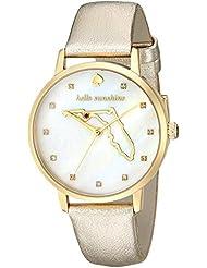 kate spade new york Womens KSW1301 Metro Analog Display Japanese Quartz Gold Watch