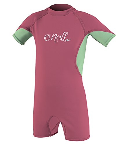 O'Neill Toddler O'Zone UPF 50+ Short Sleeve Spring Suit, Pink/Mint/White, 6